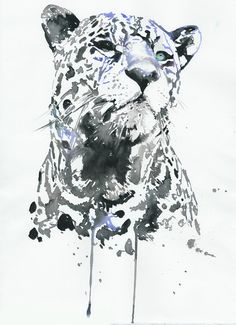 Print of watercolour painting - leopard2. $35.00, via Etsy.