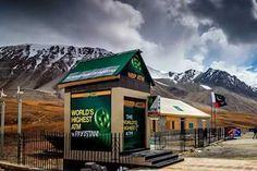 The new installation by the National Bank of Pakistan sits at 15,397 feet above sea level.