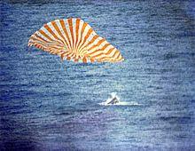 Gemini 10 splashdown on July 21, 1966