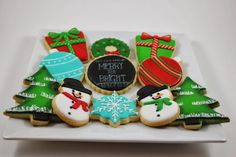 Traditional Christmas cookie set