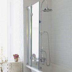 Burlington Bath Screen - The Perfect Traditional Finishing touch to your Bathroom. Save Up to On Burlington At Drench. Bath Shower Screens, Access Panel, Traditional Baths, Safety Glass, Aluminium Alloy, The Hamptons, Wall, Home, Design