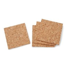Darice® 4 x 4 inch, 5mm thick cork squares are a great starting point for custom drink coasters and other crafts. 4 pieces per package.