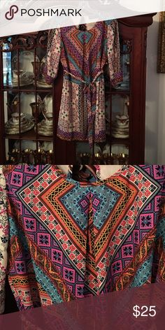 Dress Lovely printed dress. New without tags Tinley Dresses Long Sleeve