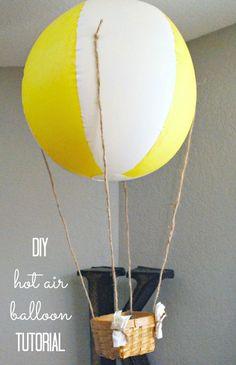 DIY Hot Air Balloon tutorial - So cute!