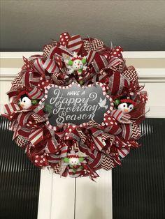 Snowman Christmas wreath created by Ronda cromeens 55$