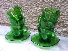 Set de 6 tazas y platitos de la casa francesa por Mementosbcn