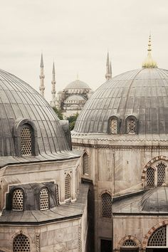 """The Blue Mosque from Hagia Sophia,€"""" Istanbul, Turkey – Eugenia Havrylko – Join the world of pin Detail Architecture, Islamic Architecture, Gothic Architecture, Hagia Sophia Istanbul, Blue Mosque Istanbul, Wrath And The Dawn, The Grisha Trilogy, His Dark Materials, Les Religions"""