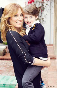 Sasha Alexander and son
