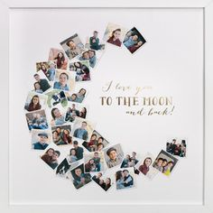 Love You To The Moon & Back! Foil-Pressed Photo Art Print