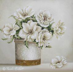 Anemone's - Oil on Canvas - By Nicola Jane Rabbett