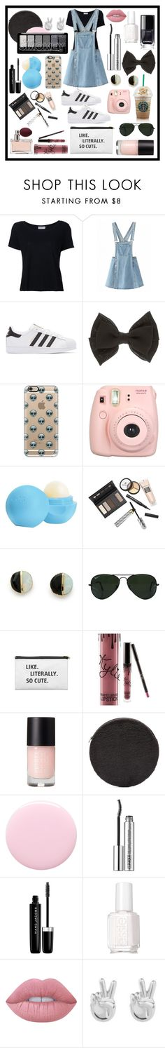 """Tumblr 👟👟"" by katieivory ❤ liked on Polyvore featuring Frame, adidas Originals, Casetify, Fujifilm, Eos, Borghese, Erica Weiner, Ray-Ban, Prada and Kylie Cosmetics"