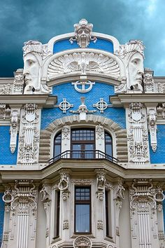 Art Nouveau architecture in Riga.