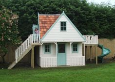 Chalet outdoor play house.  This one would keep my dad busy building!