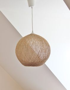 Beautiful $75 Vintage Pendant Lighting / Woven Straw Wicker Chandelier Suspension  Lampshade Vintage/ Lamp France / Pictures
