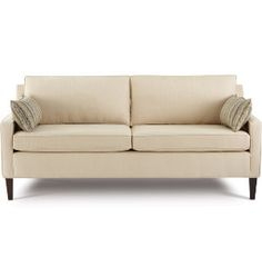 Kate Sofa from Art Van.  With Greek Key and Trellis pillows in blue and white this will look great!!!