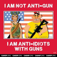 I would change this to I am anti-crazy, paranoid/delusional, & irrationally angry people w/ guns.