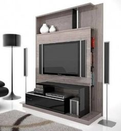 le-charpentier-art-l074-mueble-de-tv-bajo-modular-mueble_MLA-F-3347530501_112012 Flat Screen, Sweet Home, Furniture, Home Decor, Houses, Tv Unit Furniture, Design Ideas, Home Decoration, Quartos