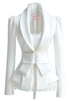 Sophisticated White Elegant Blazer / Only Me ✌✔ xoxo