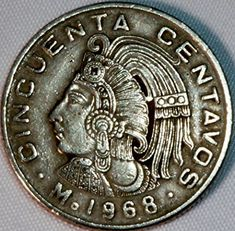 Mexican Art, Mexican Style, Mexican Peso, Old Coins Worth Money, All Currency, Coin Worth, Coin Values, Pirate Skull, World Coins