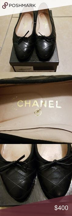 CHANNEL SHOES  Black quilted ballet slipper 38.5/8 Classic CHANNEL quilted ballet slippers in very nice condition, please check my photos. In original box. 38.5 so 8, site says 8.5 but I do t think so CHANEL Shoes Flats & Loafers