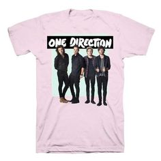 One Direction Green Box Kids Pink T-shirt