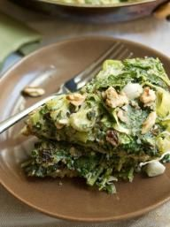 Baked Spinach & Herb Omelet | KitchenDaily.com