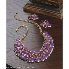 Radiant Orchid Fish Scale Necklace And Jewelry Set - FREE SHIP ALL USA