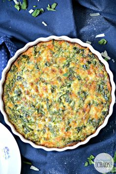 This one-dish easy brunch recipe for Spinach and Broccoli Quiche is packed full of veggies and is so healthy. At the same time, delicious with every bite!