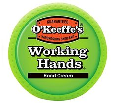 O'Keeffe's Working Hands Hand Cream, 3.4 oz., Jar - O'Keeffe's Working Hands Hand Cream is a concentrated, highly effective moisturizer that relieves extremely dry hands that frequently crack. This odorless, non-greasy formula hydrates the skin – helping it retain moisture and making a difference you feel in days. It is safe for people with diabet...