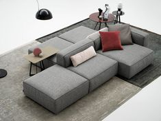 Alcazar sofa has a modern design, furnishes the relax part of the house. Alcazar is a modular sofa. Alcazar has simple and young lines, a geometrical and Furniture Logo, Table Furniture, Furniture Design, Furniture Dolly, Furniture Buyers, Outdoor Furniture, Deco Furniture, Plywood Furniture, Furniture Stores