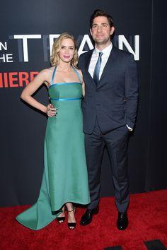 'The Girl on the Train' Premieres in New York: Emily Blunt and John Krasinski