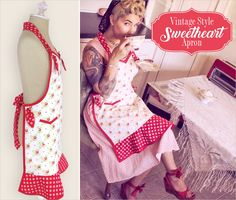 Vintage Style Sweetheart Apron | Sew4Home
