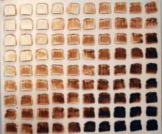 color wheel of toast