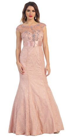 Yuki Isabelle Womens Lace Mermaid Ball Dresses Long Cap Sleeves Party Evening Dresses