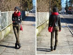 *red accents (by Nina Dunin) http://lookbook.nu/look/4550943-red-accents