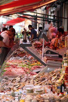 Fresh Italian Food at the Capo Markets, Palermo.
