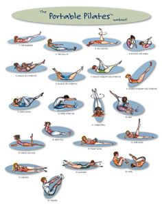 Pilates exercises in pictures, cute and I am doing all but 2 regularly:)
