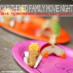 #ad Car Themed Family Movie Night with Popcorn Chicken Car Snacks | The Pinning Mama