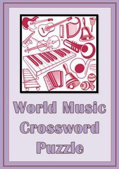 World Music Crossword  A great addition to a unit on World Music  http://www.teacherspayteachers.com/Product/World-Music-Crossword-Puzzle