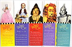 Wizard Of Oz Characters | The Wizard of Oz Characters Bookmarks. I have the Dorothy bookmark.
