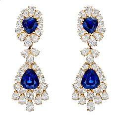 Van Cleef  Arpels – Sapphire  Diamond Chandelier Earrings