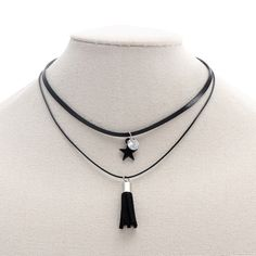 Find More Choker Necklaces Information about Fashion Short Choker Necklace Multilayer Black Leather Faux Tassel Pendant Necklace Crystal Black Star Pendant Necklace ,High Quality choker fashion necklaces,China choker necklace Suppliers, Cheap necklace multilayer from Winslet&Jean on Aliexpress.com