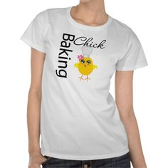 Baking Chick T-shirt by www.allaboutchicksgifts.com