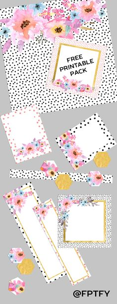 Free Digital Scrapbooking Journaling Printable Pack