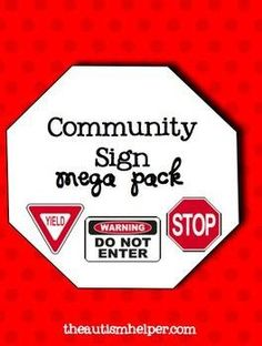 This unit includes tons of fun games, printables, flashcards, and an adapted book to help your students learn about common community signs. by theautismhelper.com