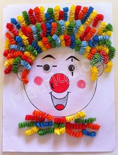 Purim Purim diy crafts for kids outdoors - Kids Crafts Kids Crafts, Clown Crafts, Circus Crafts, Carnival Crafts, Summer Crafts, Diy And Crafts, Arts And Crafts, Paper Crafts, Diy Paper