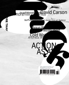 """David Carson: Type designer David Carson is the """"grunge typographer"""" whose magazine Ray Gun helped explode the possibilities of text on a page. Why you should listen to him: David Carso… David Carson Design, Milton Glaser, Massimo Vignelli, Surf Music, Stefan Sagmeister, Word Fonts, Graphic Projects, Typographic Poster, Layout"""