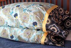 French Seam Pillowcase tutorial by Lindsay of The Cottage Home French Seam tutorial by Grainline Studio #sew #tute #diy