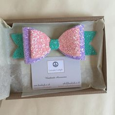 "One of our new designs! The 'Dolly' double glitter bow, approximately 5.8"" in length £5.50  Www.lewisleigh.co.uk  #bows #glitter #glitterbows #hairbows #handmade #hairstyles #hair #summer #style #fashion #cute #girl #girlsfashion #baby #babygirl #babystyle #instafashion"