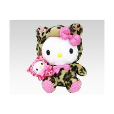 Hello Kitty Leopard Plush with Finger Puppet: Holiday Peluche Hello Kitty, Hello Kitty Plush, Hello Kitty Items, Here Kitty Kitty, Miss Kitty, Cat Character, Kawaii, Finger Puppets, Plush Dolls